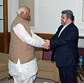 The Ambassador of the Islamic Republic of Iran, Mr. Sayed Mehdi Nabizadeh meeting with the Speaker, Lok Sabha, Shri Somnath Chatterjee, in New Delhi on November 21, 2007.jpg