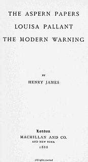 <i>The Aspern Papers</i> novel by Henry James