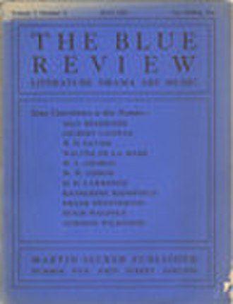 Rhythm (literary magazine) - Cover of The Blue Review, May 1913