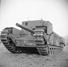 Експериментален модел на самоходно 76,2-mm оръдие Gun Carrier, 3-inch, Mk I, Churchill (A22D)