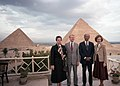 The Carters and the Sadats visit the pyramids, March 10, 1979 (10729662906).jpg