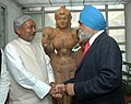 The Chief Minister of Bihar, Shri Nitish Kumar meeting the Deputy Chairman, Planning Commission, Shri Montek Singh Ahluwalia to finalize annual plan 2009-10 of the State, in New Delhi on February 23, 2009.jpg