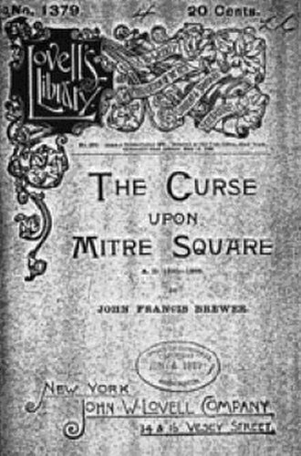 Jack the Ripper in fiction - Title page of The Curse Upon Mitre Square, 1888