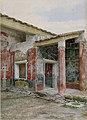 The Genaeceum (Women's Quarters) of the House of Sallust (VI 2, 4) in Pompei watercolor by Luigi Bazzani.jpg