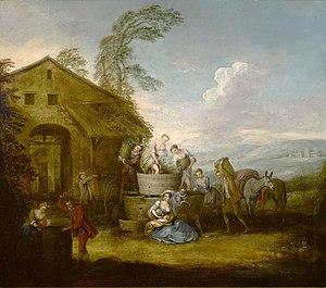 Jean-Baptiste Pater - Image: The Grape Harvest by Jean Baptiste Pater