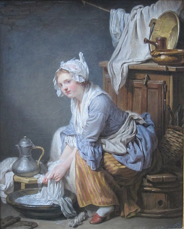 The Laundress by Jean-Baptiste Greuze, 1761, Getty Center.JPG