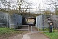 The London to Tonbridge railway line crosses over the Wealdway and National Cycleway 12 - geograph.org.uk - 1199713.jpg