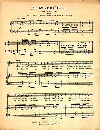 "Memphis blues - Sheet music for ""The Memphis Blues"""