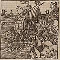 The Ottoman army disembarking on Rhodes - Johannes Adelphus - 1513.jpg