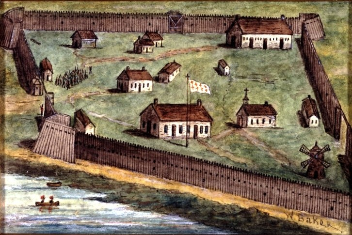The Pallisaded Village of Lachine 1689