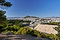 The Panathenaic Stadium and Mount Lycabettus from the Temple of Tyche on August 9, 2019.jpg