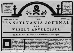 The Pennsylvania Journal - Masthead of The Pennsylvania Journal (October 31, 1765)