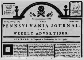 The Pennsylvania Journal - Masthead of The Pennsylvania Journal (October 31, 1765)