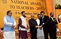 The President, Shri Pranab Mukherjee presenting the National Award for Teachers-2015 to Shri Muneer Ahmed Khan (Jammu & Kashmir), on the occasion of the 'Teachers Day', in New Delhi.jpg