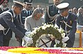 The President Dr. A.P.J Abdul Kalam laying wreath at the Samadhi of Mahatma Gandhi on the occasion of Martyr's Day at Rajghat in Delhi on January 30, 2005.jpg