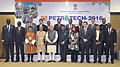 The Prime Minister, Shri Narendra Modi in a group photograph at the PETROTECH-2016 12th International Oil & Gas Conference and Exhibition, in New Delhi.jpg