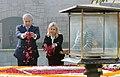 The Prime Minister of Israel, Mr. Benjamin Netanyahu paying floral tributes at the Samadhi of Mahatma Gandhi, at Rajghat, in Delhi on January 15, 2018.jpg