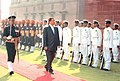The Russian Defence Minister Mr. Sergei Borisovich Ivanov inspecting the Guard of Honour in South Block in New Delhi on October 17, 2005.jpg