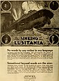 The Sinking of the Lusitania, ad in The Moving Picture World, August 24th, 1918.jpg