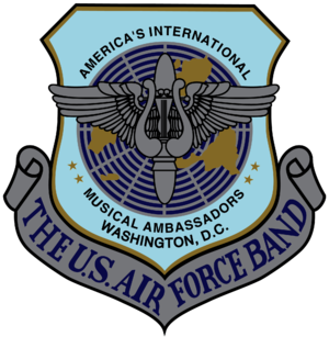 The unit shield of the United States Air Force...