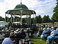 The bandstand, complete with band - geograph.org.uk - 1725338.jpg