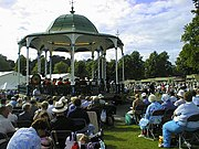 The bandstand, complete with band - geograph.org.uk - 1725338