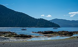 The beach at Tanu, Haida Gwaii.jpg