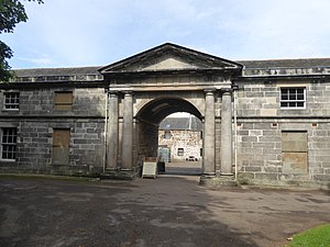 Newhailes House - Entrance to stable courtyard