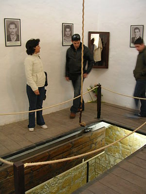 Capital punishment in Cyprus - The gallows at the Nicosia Central Prison, now a museum (2006)