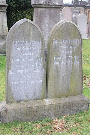 Forrest baronets - The graves of Sir William Forrest and Sir James Forrest, Dean Cemetery