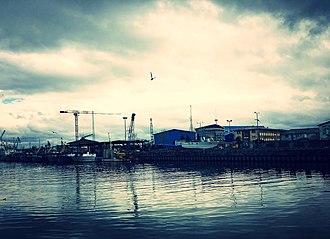 Bandar-e Anzali - Image: The harbour Bandar e Anzali