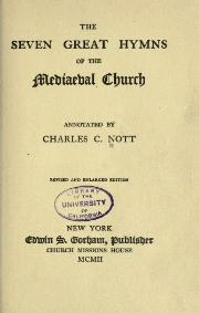 The seven great hymns of the mediaeval church - 1902.djvu