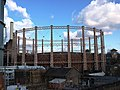 The southernmost Battersea gasholder from Battersea Park Station - geograph.org.uk - 1701899.jpg