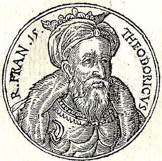 "Theuderic III - Theuderic III from ""Promptuarii Iconum Insigniorum"""