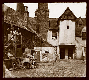 Thomas Keith (doctor) - Whitehorse Close in Edinburgh, from a calotype by Thomas Keith
