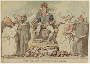 Privy Council of the United Kingdom - Privy Council of a King of Thomas Rowlandson. 1815