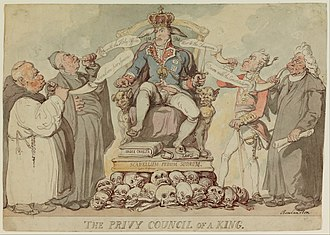 Privy Council of the United Kingdom - Privy Council of a King by Thomas Rowlandson. 1815