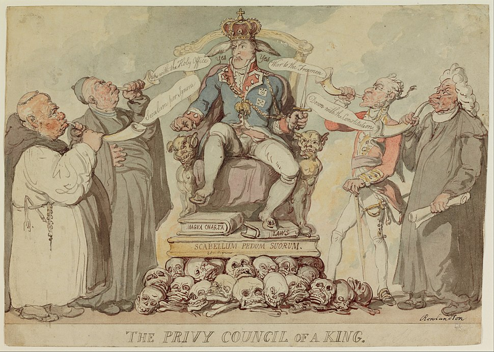 Thomas Rowlandson - The Privy Council of a King - Google Art Project