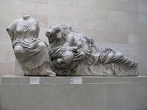 Three goddesses-from Parthenon east pediment p...