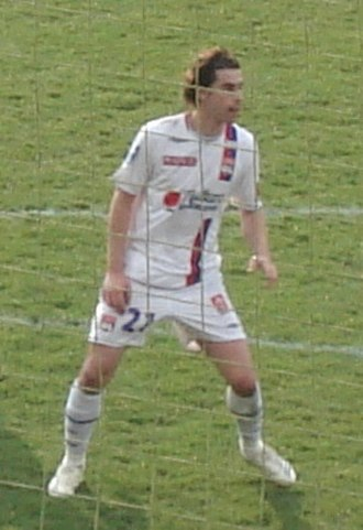 Tiago Mendes - Tiago playing for Lyon in 2007