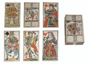 "Example of 18th century ""Tiertarock"" or animal tarot"