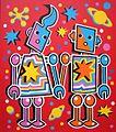 Tim Davies - Space Robot Lovers (Scarlet version) postcard.jpg