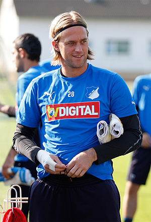 Timo Hildebrand - Hildebrand at practice with Hoffenheim in 2009.