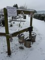 Tiverton , Tiverton Cemetery, Watering Cans - geograph.org.uk - 1654155.jpg
