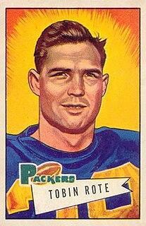 Tobin Rote American football quarterback