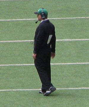 Todd Dodge - Todd Dodge on the field while coaching at Carroll High School