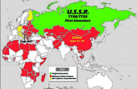 Tokarev Pistol historical usage map Tokarev Pistol historical usage map.jpg