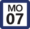 Tokyo Monorail MO-07 station number.png