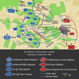 Battle of Tomaszów Lubelski - Polish tank assault, September 18th