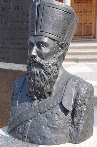 Thomas Pereira - Bust of Tomás Pereira in Vila Nova de Famalicão